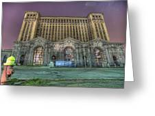 Detroit's Michigan Central Station - Michigan Central Depot Greeting Card