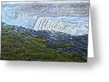 Dettifoss Waterfall Iceland Greeting Card