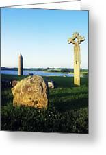 Devenish Island, Co Fermanagh, Ireland Greeting Card