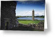 Devenish Monastic Site, Lough Erne, Co Greeting Card