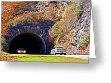 Devil's Courthouse Tunnel Greeting Card