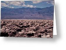 Devil's Golf Course At Death Valley Greeting Card