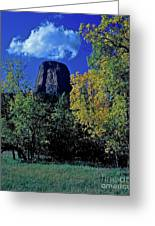 Devil's Tower Autumn Greeting Card