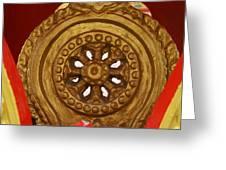 dhamma wheel nakon nayok metal print by gregory smith