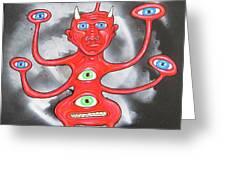 Diabolous Tribus  B Greeting Card