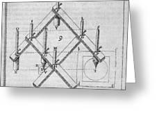 Diagram Of A Pantograph Greeting Card
