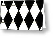 Diamonds White And Black Greeting Card
