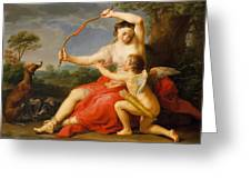 Diana And Cupid Greeting Card