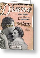 Diane Greeting Card by Mel Thompson