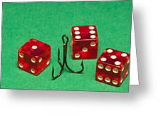 Dice Red Hook 1 A Greeting Card