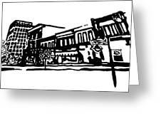 Dickson Street In Fayetteville Ar Greeting Card