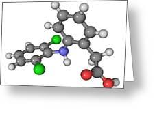 Diclofenac Drug Molecule Greeting Card