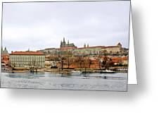 Die Moldau - Prague Greeting Card by Christine Till