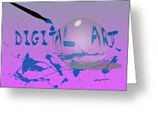Digital Art Greeting Card