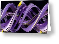 Digital Streak Image Of An Iris Greeting Card