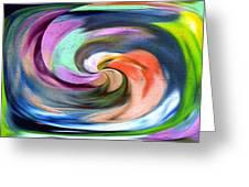 Digital Swirl Of Color 2001 Greeting Card