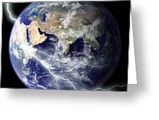 Digitally Enhanced Image Of The Full Greeting Card