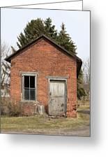 Dilapidated Old Brick Building Greeting Card by John Stephens