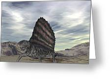 Dimetrodon Grandis Traverses Earth Greeting Card by Walter Myers