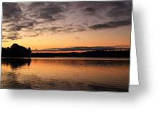 Diminishing Clouds And Rising Sun Greeting Card