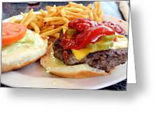 Diner Burger Greeting Card