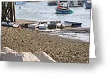 Dinghies At Green Harbor Greeting Card