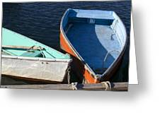 Dinghy Tie Up Greeting Card