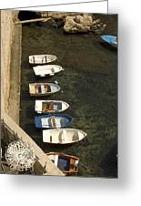 Dinghy's In Dubrovnik Greeting Card