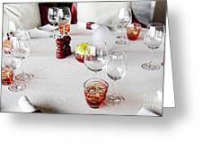 Dining Table. Greeting Card