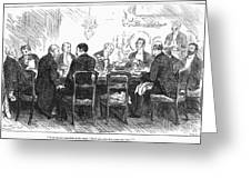 Dinner Party, 1880 Greeting Card