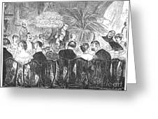 Dinner Party, 1885 Greeting Card