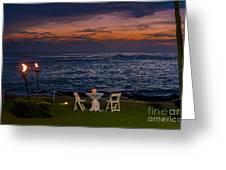 Dinner Setting In Paradise Greeting Card