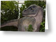 Dinosaur Inside The Conservatory Greeting Card