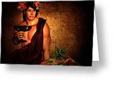 Dionysus Greeting Card by Lourry Legarde