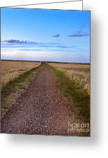 Dirt Road Through The Prairie Greeting Card