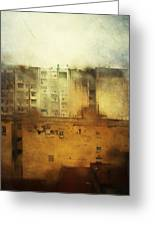 Dirty City View Greeting Card