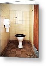Dirty Public Toilet Greeting Card by Richard Thomas