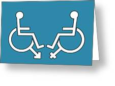 Disability Sexuality, Conceptual Artwork Greeting Card by Stephen Wood