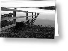 Disappearing Fence. Greeting Card