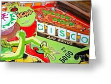 Disco Pinball Greeting Card
