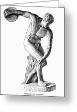 Discobolus Casting Greeting Card