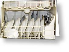 Dishes In A Dishwasher Greeting Card