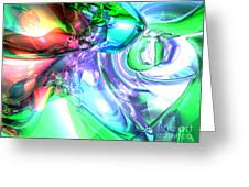 Disorderly Color Abstract Greeting Card