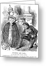 Disraeli Cartoon, 1876 Greeting Card