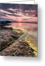 Divine Sunset Greeting Card