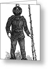Diving Suit, 1855 Greeting Card