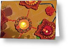 Diwali Colors By Candle Greeting Card