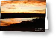 Dixon Reservoir Sunrise Greeting Card