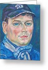Dmitry Polyakov Greeting Card by Leonid Petrushin