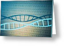 Dna And A Genetic Sequence Greeting Card